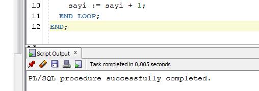 PL/SQL WHILE LOOP Kullanımı (While Döngüsü)